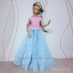Вечерний наряд для Барби - кофта и юбка