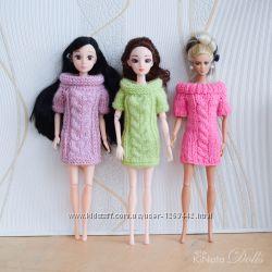 Вязаное платье-туника для Барби, Liv или Moxie Teenz