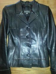 Кожаный пиджак-Сlassic fashion.