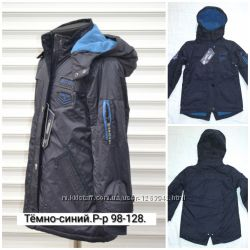 Распродажа Куртка-парка демисезонная на флисовой подкладке. Р-р 98, 104.