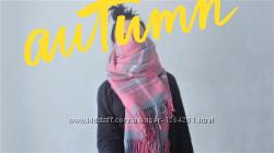 3 в 1 - шарф, пончо, палантин - теплый уютный стильный плед  расцветки