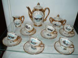 Винтажный фарфоровый кофейный сервиз Bavaria 70-е гг на 6 персон  подарок