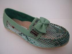 Мокасины - туфли кожаные для девочки Palaris 31-36