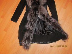 Пальто кашемир с чернобуркой Meisinisi р. 40