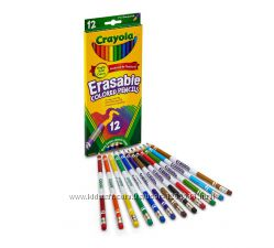 Crayola карандаши c ластиком 12 цветов