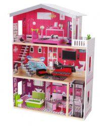 Кукольный домик  EcoToys Malibu с лифтом 4118