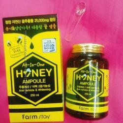 Хит Корея Farmstay All-In-One Honey Ampoule супер сыворотка 250 мл для лица