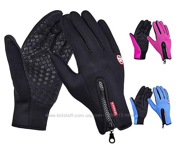 Сенсорные перчатки рукавички с ветрозащитой, повседневные, лыжные, вело