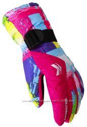 Женские, подростковые зимние перчатки Wild Snow, лыжные горнолыжные, 4 цвет