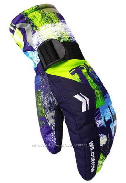 Мужские, женские, подростковые зимние перчатки Wild Snow лыжные горнолыжные