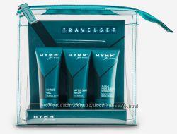 Набор для путешествий HYMM гель для бритья, бальзам после бритья, шампунь