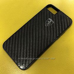 Чехол для Apple iPhone 6, 6s, 7, 8 Ferrari Carbon Fiber Heritage