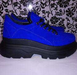 Замшевые кроссовки р35-41