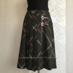 Новые стильные клетчатые зеленые юбки