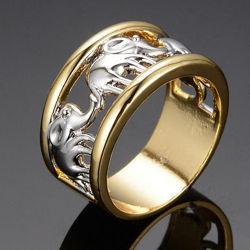 Мужское кольцо перстень со слонами
