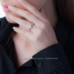 кольцо с бриллиантом 0, 1 карат