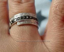 шикарное кольцо с бриллиантами ORO VIVО по скидке
