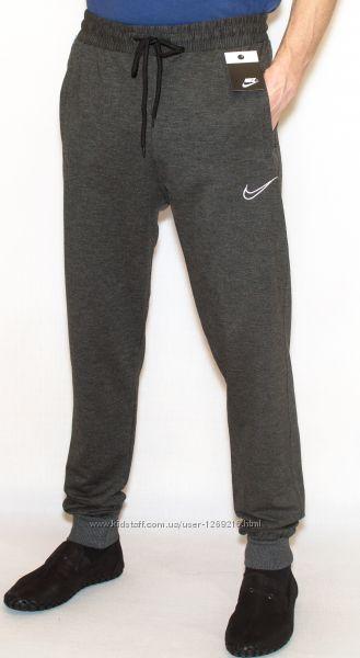Спортивные штаны мужские синие NIKE манжет копия