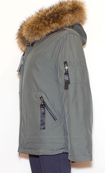 Куртка парка з капюшоном 46-50 Vinacly 9081