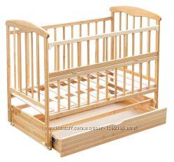 Кровать Наталка с откидной боковиной,  маятниковым механизмом и ящиком
