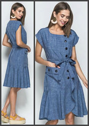Льняное платье, Летнее платье, Жіноча сукня, Женское платье.