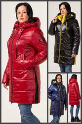 48-58, Демисезонная куртка женская. с капюшоном, ботал. Жіноча куртка
