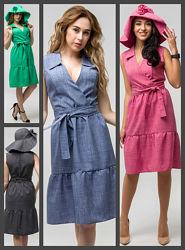 Льняное платье, Летнее платье, Жіноча сукня, Женское платье. лен