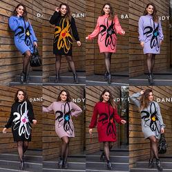 46-54, Теплое платье вязаное, Жіноча тепла сукня