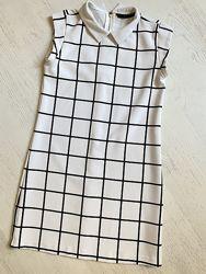 Платье женское ZARA, платье в клетку, классический сарафан