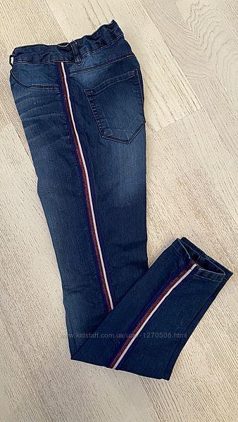 Джинсы-скинни для девочки LC WAIKIKI, синие джинсы с лампасами