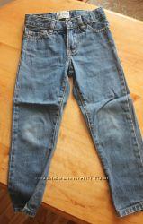 Крутые синие джинсы, джинсики на мальчика зауженные на 4 года