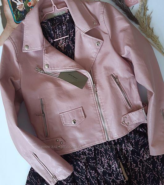 Косуха кожанка куртка экокожа пудра, розовая, молочная, белая, красная, зеленая