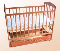 Детская кроватка маятник с ящиком Наталка