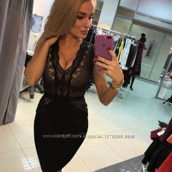 0400c4a3267 Бандажное платье Herve Leger кружевное