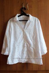 Легкая белая летняя рубашка блузка, размер XL.