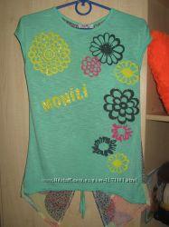 Симпатична футболка блузка з шифоновою спинкою monili р. s