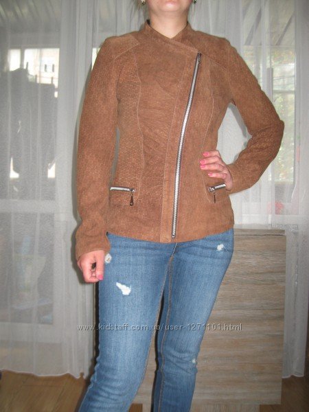 Куртка косуха з натуральної замші роз. S