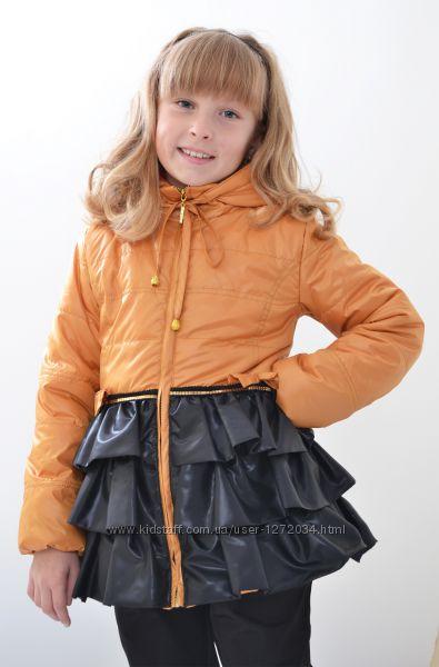 Демисезонная куртка пальто ТМ Luxik Люксик модель Софи на девочку р 110-122