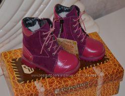 Сапожки ботинки зимние для девочки, кожа овчинка, тм Берегиня, 21 р