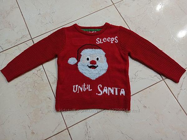 Новогодний праздничный свитер реглан кофта Happy Christmas
