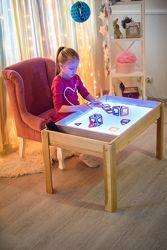 Акция Детский световой стол массив ясеня. Набор для игры с песком в подарок