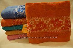 Полотенца, махра, 0, 5х1, 0 Разные цвета