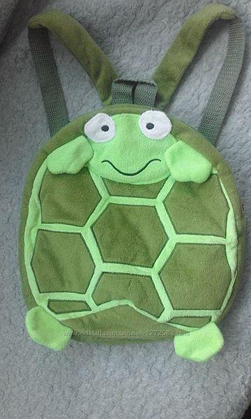 детский рюкзак игрушка Черепашка