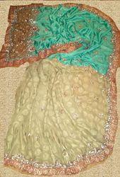 Сари индийское нарядное