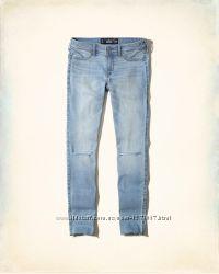 Hollister оригинал светлые джинсы для самых стройных COOLMAX