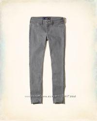 Hollister оригинал серые джинсы для самых стройных COOLMAX