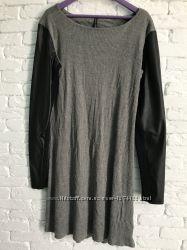 3c1ecea7412 Стильное платье с кожаными рукавами Chicoree