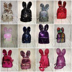 Детские рюкзаки с пайетками перевертышами.