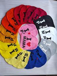 Детские трикотажные демисезонные шапки с надписью