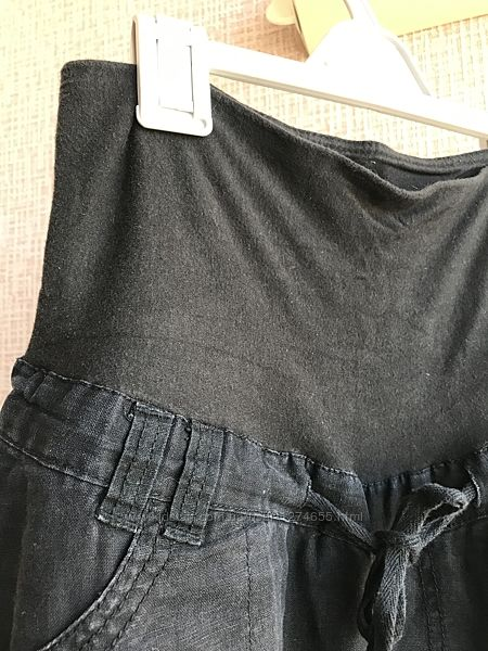 MotherCare р.8 36-38 Шикарные в идеале лён/х-б штаны  на лето